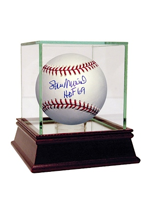 Stan Musial Autographed MLB Baseball w/ HOF Insc